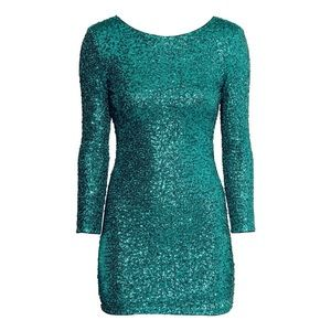 H&M Green sequin dress *new w/ tags!*